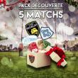 Match PACK DECOUVERTE MAYOL 5 MATCHS