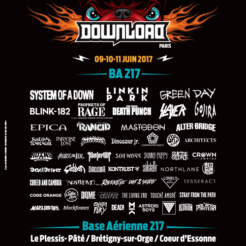 Billets DOWNLOAD FESTIVAL 2017