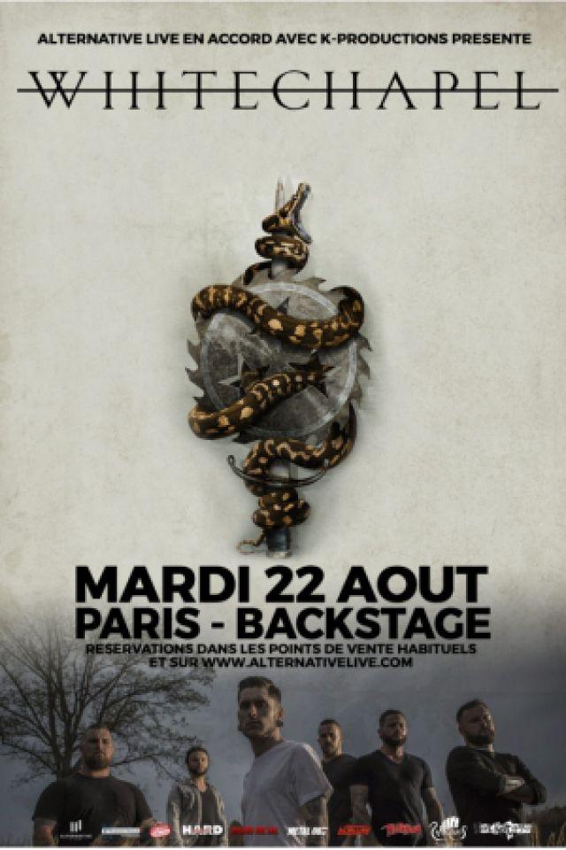 Concert WHITECHAPEL + MAGNA CULT + WIDESPREAD DISEASE à Paris @ Le Backstage by The Mill - Billets & Places